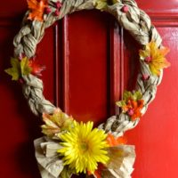 Easy Recycled Crafts – Fall Wreaths