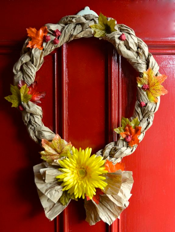 Easy recycled crafts fall wreaths inner child fun for Easy recycled materials
