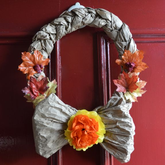 Easy Recycled Crafts - Fall Wreaths-craft-wreath2
