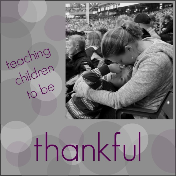 teaching children to be thankful