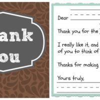 Thank You Note Template for Kids (Free)