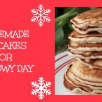 Homemade Pancakes for a Snowy Day
