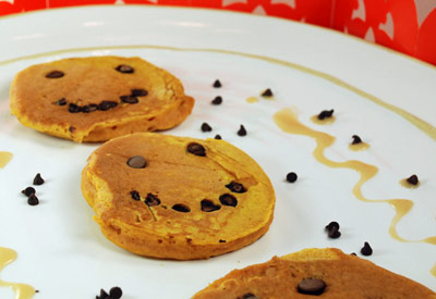 Homemade Pancakes with Pumpkin