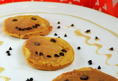Homemade Pancakes with Pumpkin