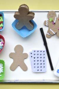 DIY Play Food — Cardboard Gingerbreadmen