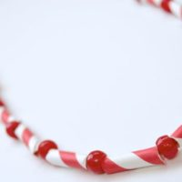 Holiday Gift Kids Can Make — Peppermint Necklace