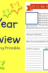 My Year in Review Free Printable
