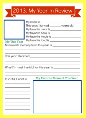 Reflect on the previous year as you celebrate the New Year with this free printable!
