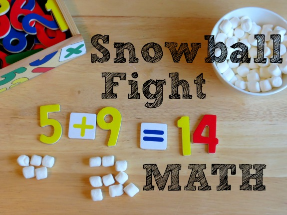 Snowball Fight Math- Playfully practice addition, subtraction, solving word problems and more!