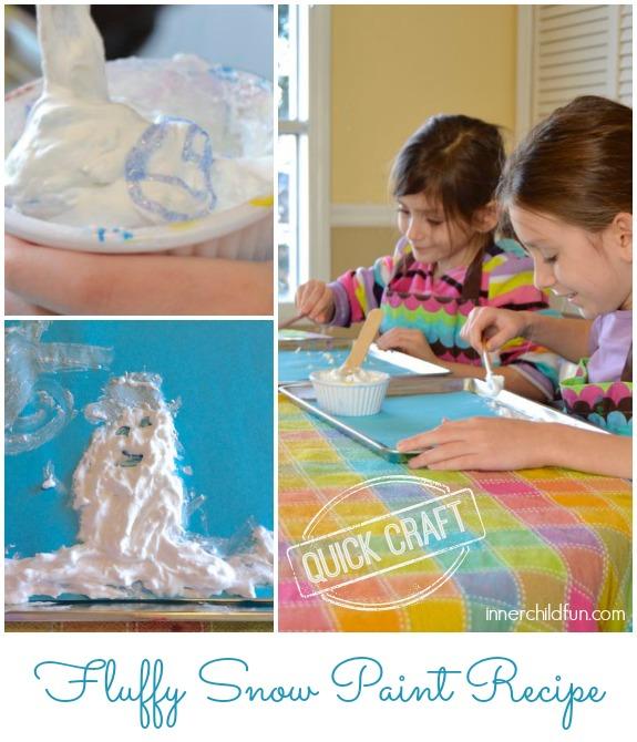 Fluffy Snow Paint Recipe