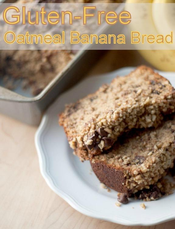 Gluten Free Oatmeal Banana Bread