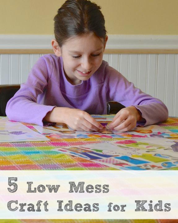 5 Low Mess Craft Ideas for Preschoolers
