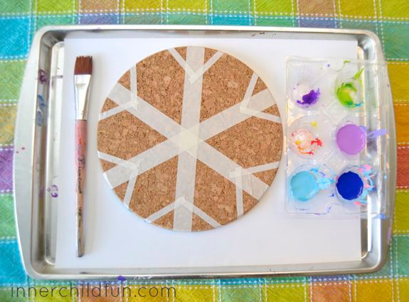 Winter Craft for Kids -- Snowflake Trivets