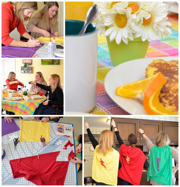 A Special Superhero Cape Making Brunch