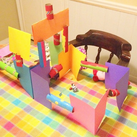 Simple Craft For Kids Cardboard Tube Construction Set