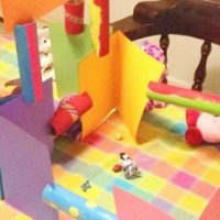Simple Craft for Kids — Cardboard Tube Construction Set