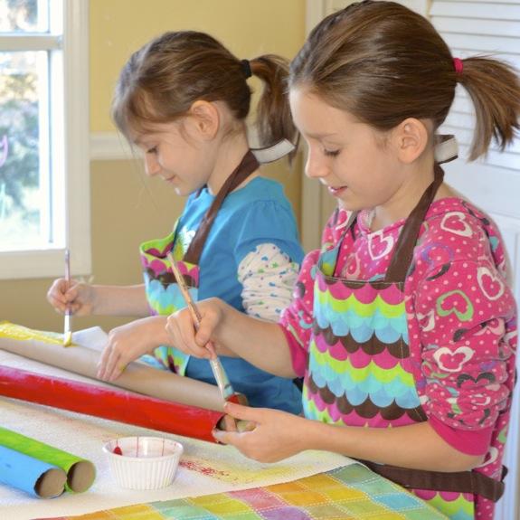 Simple Craft for Kids -- Cardboard Tube Construction Set