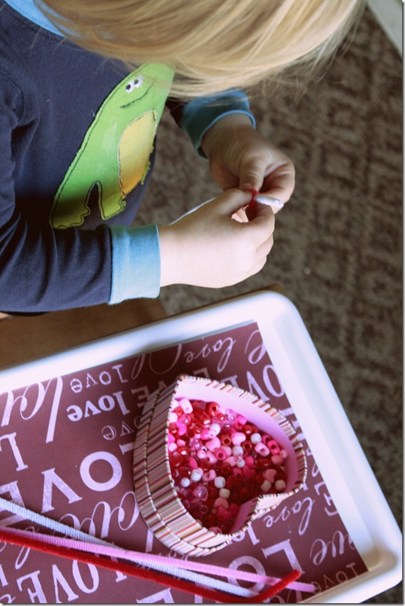 Valentine's Day Montessori Trays- Holiday themed learning and fun!