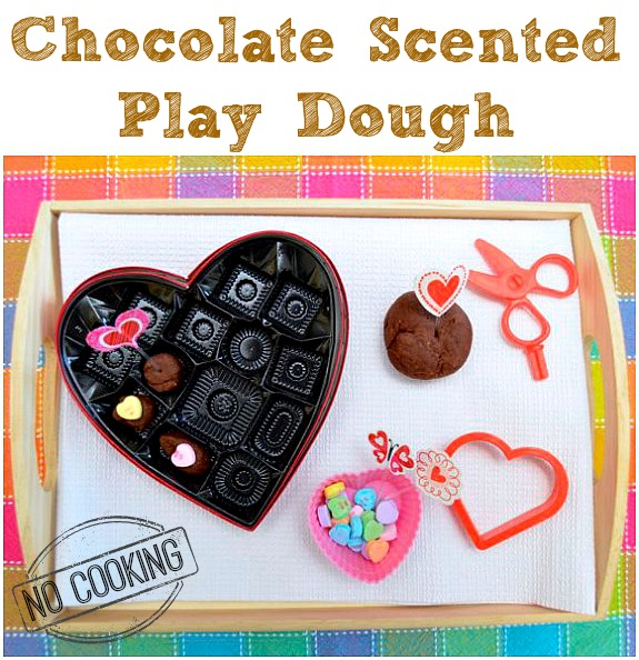 Chocolate Scented Play Dough -- no cooking and so easy!