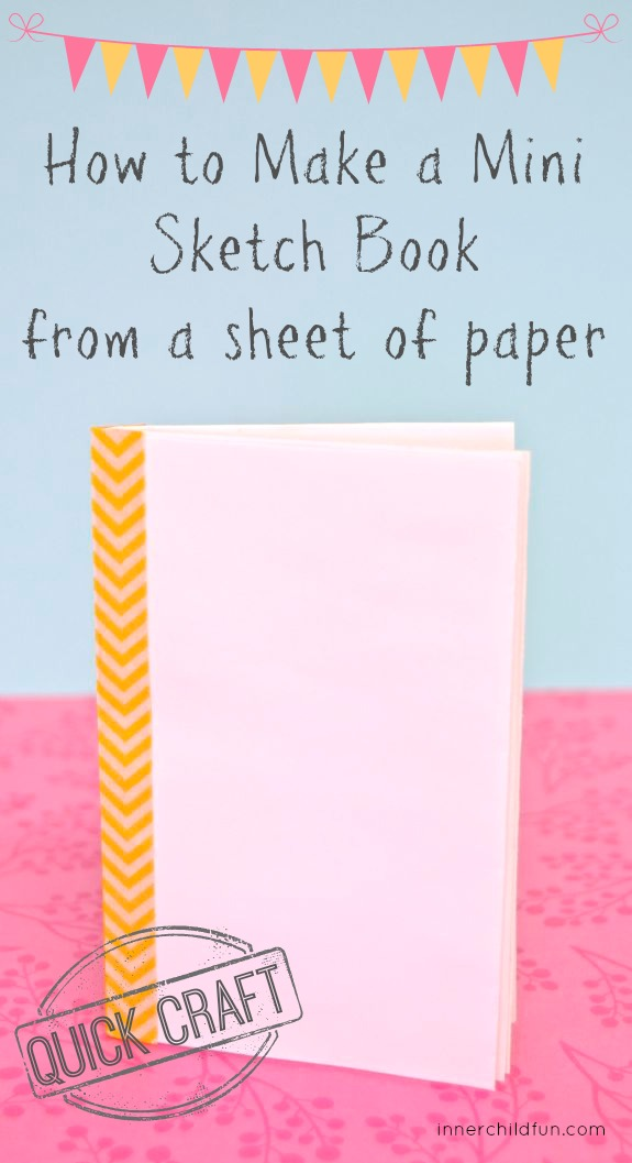 How to Make a Sketch Book from a sheet of paper -- so cool!!