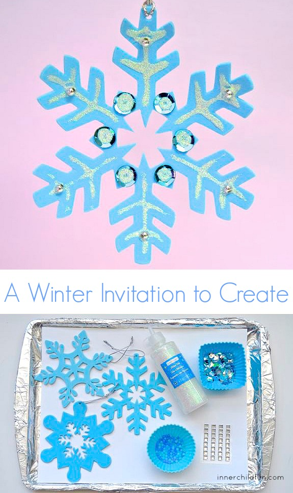 Fine Motor Craft - Winter Snowflake Ornaments