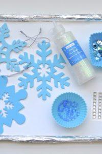 Fine Motor Craft – Winter Snowflake Ornaments