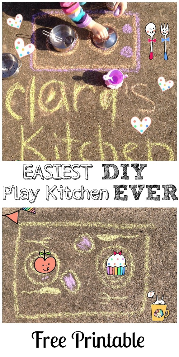 Easiest. DIY Play Kitchen. EVER!!