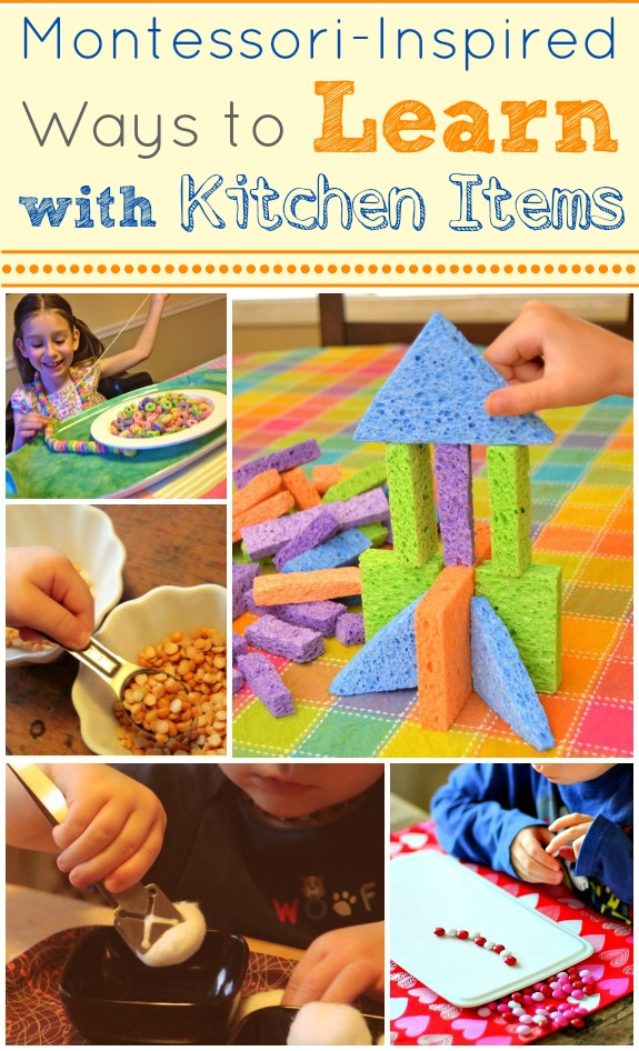 Montessori-Inspired Ways to Learn with Kitchen Items
