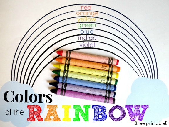 Learning the Colors of the Rainbow (with free printable!)