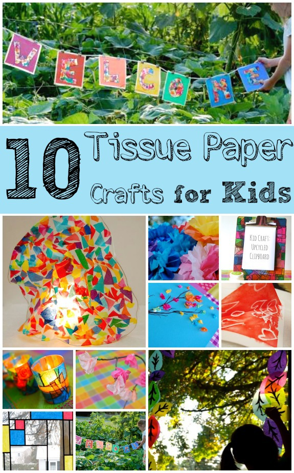 10 Tissue Paper Crafts for Kids