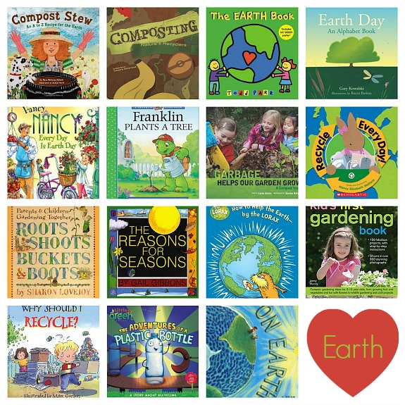 Earth Day Book Collage