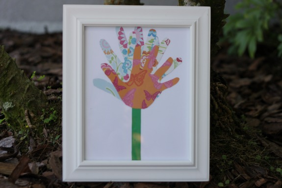 Homemade Handprint Art for Mother's Day