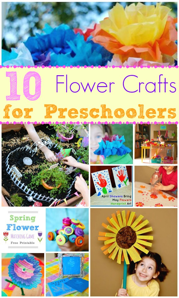 10 Flower Crafts for Preschoolers