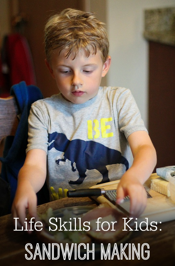 Life Skills for Kids Sanwich Making