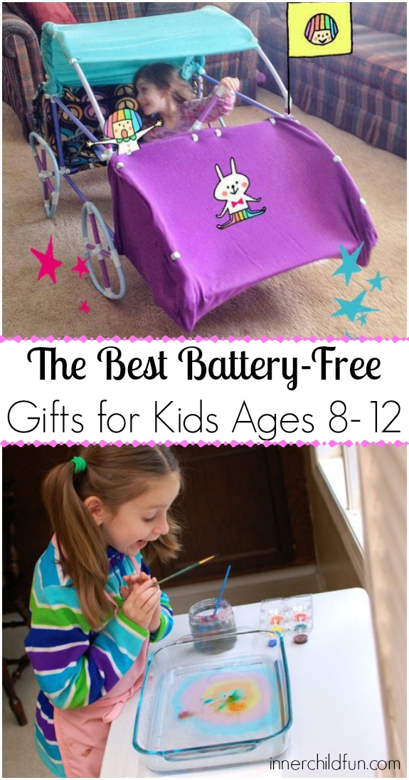 Best Battery-Free Gifts for Kids Ages 8-12 -- saving this for when I need a birthday gift idea!