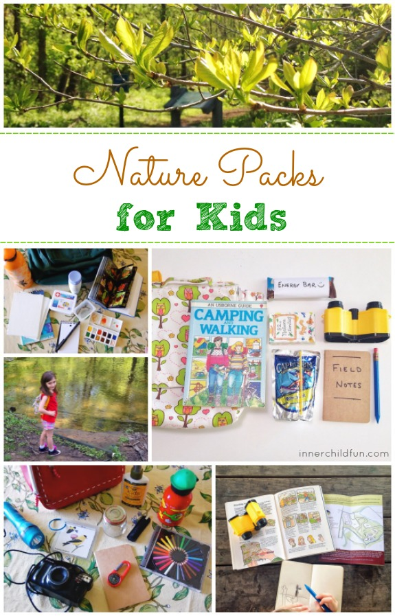 Nature Packs for Kids -- a handy list of what to include