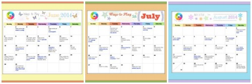 Ways To Play Summer Calendar 2014 Inner Child Fun