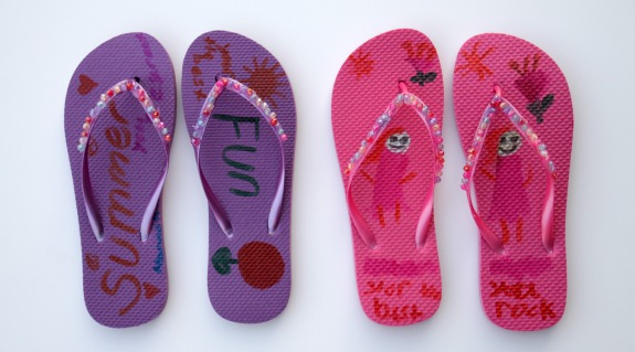 Easy Flip Flop Craft for Kids!