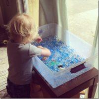 Creating an Ocean Sensory Table