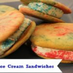 Red, White and Blue Tie-Dye Ice Cream Sandwich Cookies