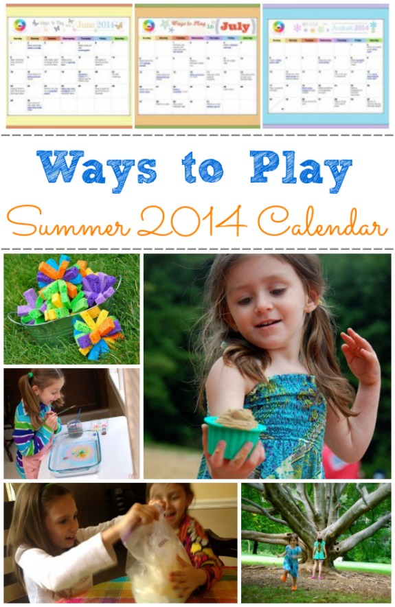 Ways to Play Summer 2014 Printable Calendar