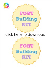 Fort Building Kit Label (printable)