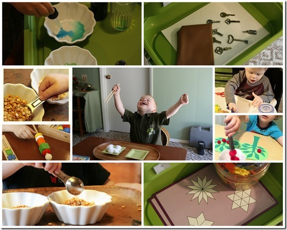 Homeschooling with Toddlers - Montessori Trays