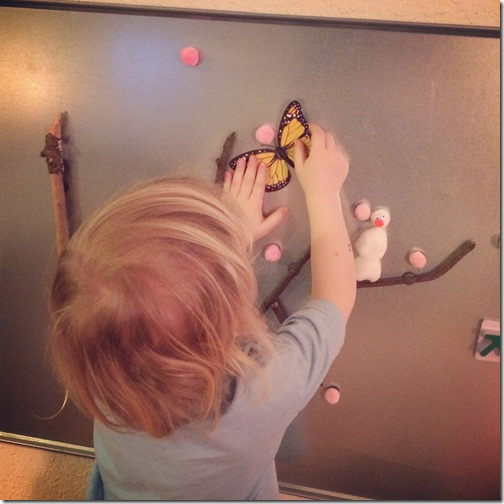 Homeschooling with Toddlers - Magnet Board