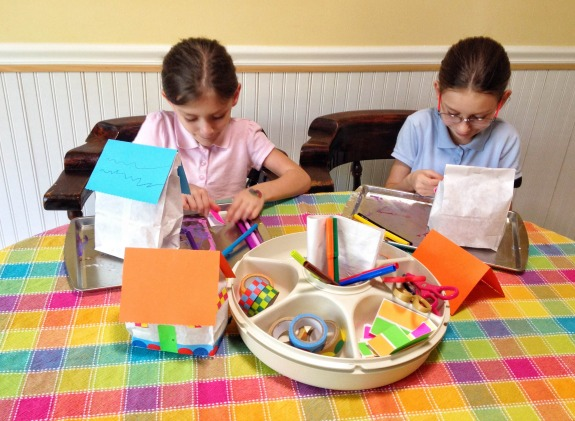 Rainy Day Fun -- Paper Bag Houses