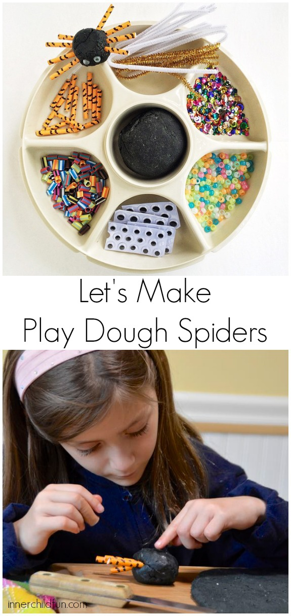 Halloween Activity -- Make Play Dough Spiders!