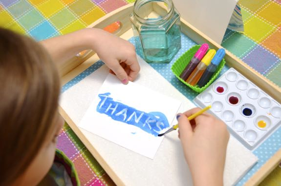 Hand Painted Thank You Cards -- great crafty fun for a snowy or rainy day!
