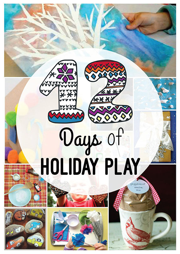 12 Days of Holiday Play -- LOVE this eBooklet to keep kids busy over Winter break!!
