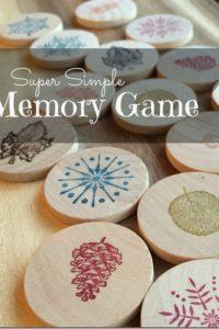 DIY Memory Game Gift