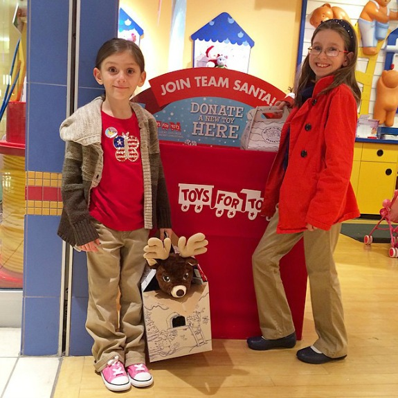 A New Holiday Tradition -- donate a new unwrapped toy for Toys For Tots at Build-A-Bear Workshop and Build-A-Bear will match the donation!
